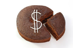 Dollar cake Royalty Free Stock Photography