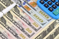 Dollar Calculations Stock Images
