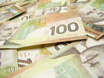 Dollar canadien Photos libres de droits