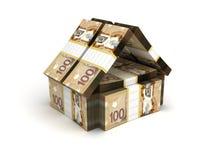 Dollar canadien de concept de Real Estate illustration stock