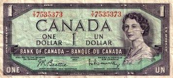 Dollar canadien de cru Photographie stock libre de droits