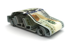 Dollar and Car Stock Photography