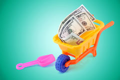 Dollar cart. Construct your own money concept Stock Images