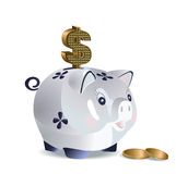 Dollar cash pig Stock Image