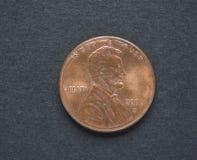 1 dollar centmynt Royaltyfria Bilder
