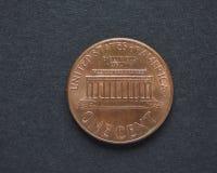 1 dollar centmynt Royaltyfria Foton