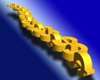Dollar chain. Yellow dollar chain Stock Image