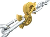 Dollar chain Royalty Free Stock Image