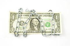 Dollar chained Royalty Free Stock Photo