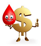 Dollar Character with blood drop Royalty Free Stock Photo