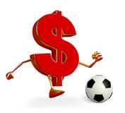 Dollar Character with football Stock Images