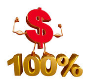 Dollar Character with percent sign Royalty Free Stock Image