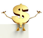 Dollar Character with sign Royalty Free Stock Images