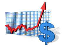 Dollar chart Royalty Free Stock Photos