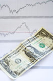 Dollar and chart Stock Photo