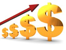 Dollar charts Royalty Free Stock Photo
