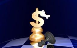 Dollar Check mates. Check games Royalty Free Stock Photo
