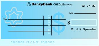 Dollar cheque Royalty Free Stock Photography