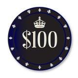 100 Dollar-Chip Lizenzfreie Stockbilder
