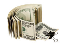 Dollar with clip Royalty Free Stock Images