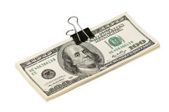 Dollar with clip Royalty Free Stock Image