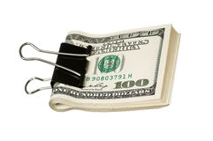 Dollar with clip Stock Photos
