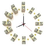 Dollar clock royalty free illustration