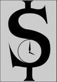 Dollar clock Royalty Free Stock Image