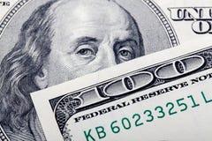 Dollar closeup fotografering för bildbyråer