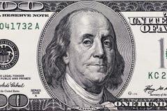 Dollar closeup Högt detaljerad bild av amerikanska pengar royaltyfria foton
