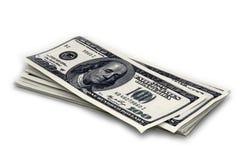 Dollar Closeupbegrepp Amerikanska dollar kassapengar sedeldollar hundra en Royaltyfri Foto