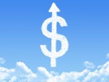 Dollar cloud shape Royalty Free Stock Photography