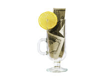 Dollar cocktail Stock Photography
