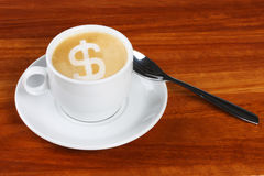 Dollar coffee Royalty Free Stock Image