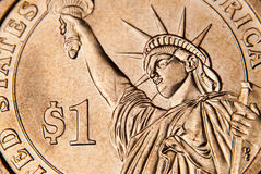 Dollar coin Stock Photography