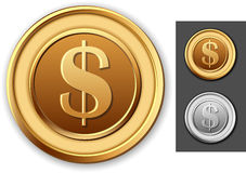 Dollar coin Stock Images