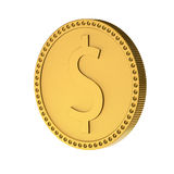 Dollar coin. Coin with sign of dollar. 3d render XL Stock Photography