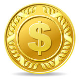 Dollar coin Stock Photo
