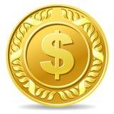 Dollar coin. Vector illustration of dollar coin stock illustration