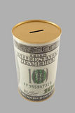 Dollar coin bank with clipping path Stock Image