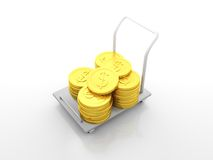 Dollar Coin Cart Stock Photography