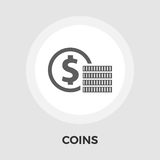 Dollar coin flat icon. Dollar coin icon vector. Flat icon  on the white background. Editable EPS file. Vector illustration Royalty Free Stock Photography