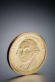 Dollar coin George Washington Royalty Free Stock Images