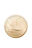 Dollar coin isolated Royalty Free Stock Photography
