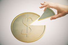 Dollar coin light Royalty Free Stock Images