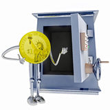 Dollar coin standing next to open vault illustration Stock Photo