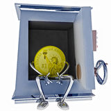 Dollar coin standing sitting in vault illustration Royalty Free Stock Image