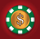 Dollar-Coin Theme Design for Casino Concept. AI 10 Supported Royalty Free Stock Image