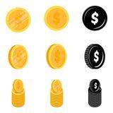 Dollar coin vector icon template. On a white background Stock Photos