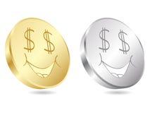 Dollar coins stock illustration